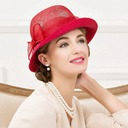 Ladies' Elegant Rattan Straw With Bowknot Bowler/Cloche Hat