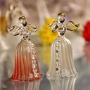 Angel and Heart Glass Wedding Bells