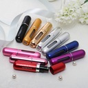 Personalized Capsule Shaped Zinc Alloy Perfume Bottle (Set of 4 Mixed Color)