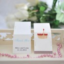 "Personalized ""Thank You"" Hard Card Paper Matchboxes (Set of 50)"
