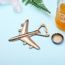 Plane Design Zinc Alloy Bottle Openers (Set of 4)