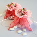 Lovely Favor Bags With Flowers/Ribbons (Set of 12)