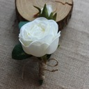 Satin Boutonniere (Sold in a single piece) -