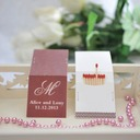 "Personalized ""Initial"" Hard Card Paper Matchboxes (Set of 50)"