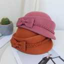 Ladies' Beautiful/Simple/Pretty Wool Blend With Bowknot Beret Hats