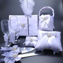 Beautiful Collection Set in Satin With Feather/Rhinestones