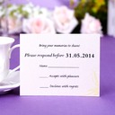 Personalized Floral Design Pearl Paper Response Cards (Set of 50)