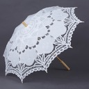 Classic/Simple Bride And Groom Wooden/Cotton Wedding Umbrellas With Lace