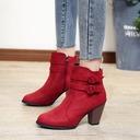 Women's Suede Chunky Heel Pumps Boots shoes