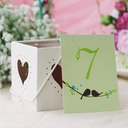 Personalized Rectangular Paper Table Number Cards (Set of 10)