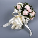 Hand-tied Satin/Rhinestone Bridal Bouquets/Bridesmaid Bouquets (Sold in a single piece) -