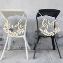 Bride and Groom Elegant Wooden Wedding Sign (set of 2)