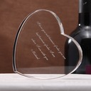 Personalized Heart-shaped Crystal Cake Topper/Crystal Item
