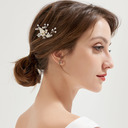 Ladies Glamourous Alloy Hairpins With Venetian Pearl