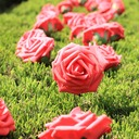 Colorful PE/Metal Flowers For Decoration(set of 50)