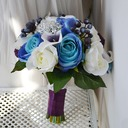Attractive Round Artificial Silk Bridal Bouquets -