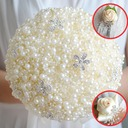 Lovely Round Satin/Rhinestone/Imitation Pearl Flower Sets (set of 4) - Wrist Corsage/Boutonniere/Bridal Bouquets