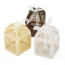 Beautiful Favor Boxes With Ribbons (Set of 12)