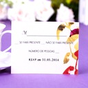 Personalized Leaf Design Pearl Paper Response Cards (Set of 50)