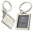 Personalized Square Zinc Alloy Keychains/Photo Frame (Set of 6)