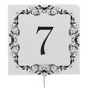 Pretty Pearl Paper Table Number Cards (Set of 10)