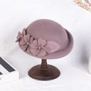 Ladies' Elegant/Exquisite Wool With Flower Beret Hats