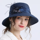 Ladies' Simple/Fancy Papyrus With Feather Straw Hats/Beach/Sun Hats