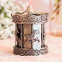 Amazing Merry Go Round Tin Alloy Money Box