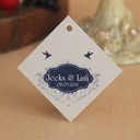 Personalized Lovely Birds Hard Card Paper Tags (Set of 30)