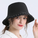 Ladies' Beautiful/Glamourous/Unique Papyrus With Imitation Pearls/Tulle Straw Hats