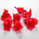 Red Rose Cloth Artificial Flowers Accessories (set of 50)