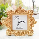 Royale Gold Baroque Place Card Photo Holder (Sold in a single piece)