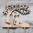 Personalized Bride And Groom/Tree Design/Happy Couple Wooden Cake Topper