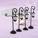 Street Lamp Zinc Alloy/Resin Place Card Holders (Set of 4)