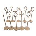 Wooden Number Seat Card(Set of 10)