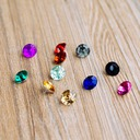 Colorful Acrylic Diamond Pieces (set of 50)