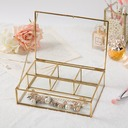 Bride Gifts - Fashion Glass Alloy Jewelry Box