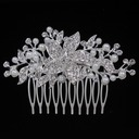 Flower Shaped Alloy/Metal Combs & Barrettes (Sold in single piece)