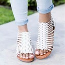 Women's Leatherette Flat Heel Sandals Flats Peep Toe With Others shoes
