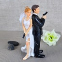 """Secret Agents"" Resin Wedding Cake Topper"
