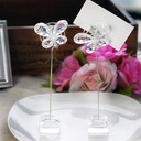 Butterfly Crystal Place Card Holders (Set of 2)