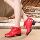 Women's Real Leather Lace Sneakers Sneakers With Hollow-out Dance Shoes