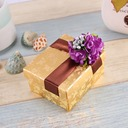 Flower Design Cuboid Favor Boxes With Flowers (Set of 12)