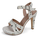 Women's Microfiber Leather Peep Toe With Sparkling Glitter