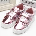 Girl's Closed Toe Leatherette Flat Heel Flats Sneakers & Athletic With Velcro