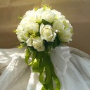 Classic Round Satin/Artificial Silk Flower Sets - Wrist Corsage/Boutonniere/Bridal Bouquets