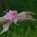 Satin/Cotton/Ribbon Wrist Corsage (Sold in a single piece) -