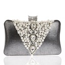 Fashional Polyester/Pearl/Czech Stones Clutches