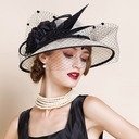 Ladies ' Nice/Romantisk/Vintage/Kunstnerisk Kambriske med Tyl Fascinators/Kentucky Derby Hatte/Tea Party Hats