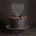 Heart Acrylic Cake Topper